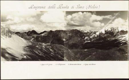 R. Esercito Italiano. Campagna di guerra 1915-18. Panorami del fronte. Dall'Adamello alla Val Sugana