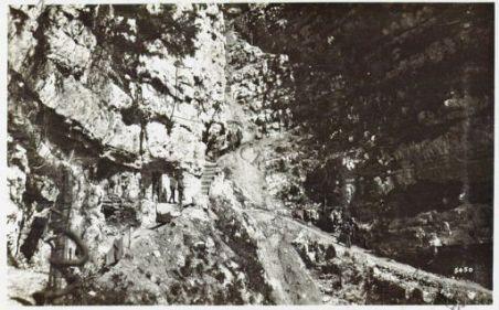 Monte Cornone. Trasporto di un ferito