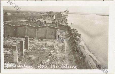 Varie guerra mondiale (Isonzo, Monfalcone, Gorizia, Carso). L'Adriatico oltre Monfalcone