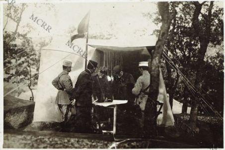Salonicco. Il ministro della guerra francese e Sarrail visitano il Gen. Petitti di Roreto