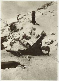 Mortaio da 210 mm. a Jama Planina