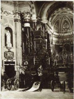 Udine Funerali del Generale A. Chinotto. Il Catafalco nella Chiesa delle Grazie