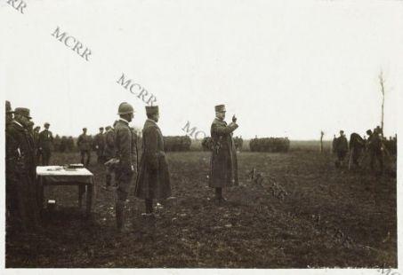 Consegna delle medaglie alle truppe di cavalleria - Palazzolo della Stella 5/1-1917