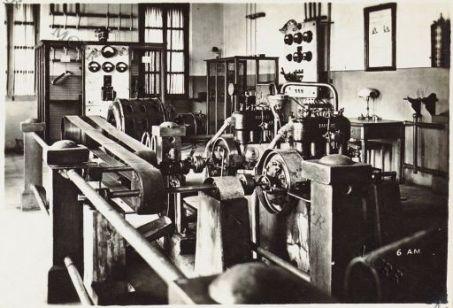 L'interno della centrale elettrica di Valona.