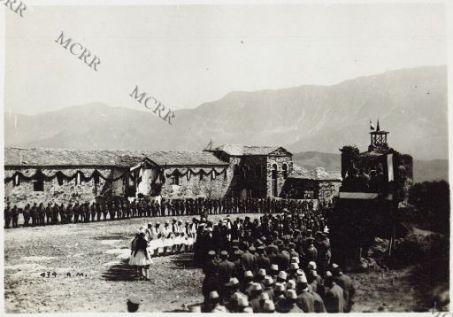 La cerimonia nel castello di Aregirocastro