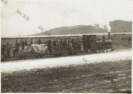 Balisa. Trasporto di truppe in ferrovia