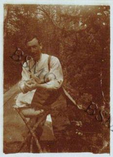 Toilette mattutina, Baite Pradaccio (Val Zebrù), maggio-giugno 1918