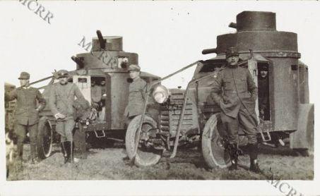 Varie di guerra (Zona: Gorizia, Carso, Monfalcone). Automobile blindata alla fronte