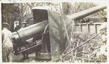 Varie di guerra (Zona: Gorizia, Carso, Monfalcone). Cannone da marina al fronte