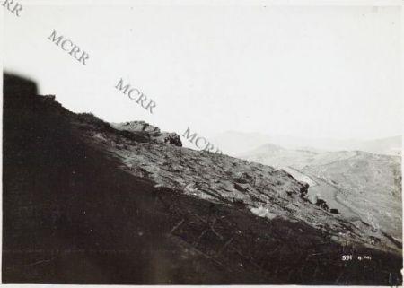 Le posizioni tedesche e bulgare al Castelletto
