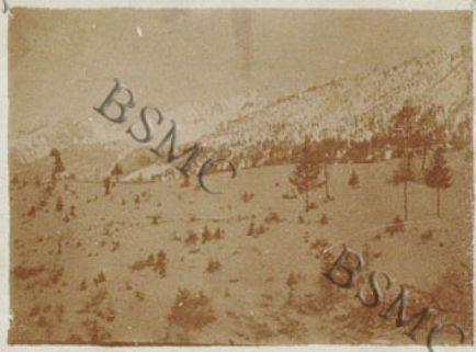 Il Collearza (3006) dalle baracche dell'Ogliolo, Valcamonica, gennaio 1918