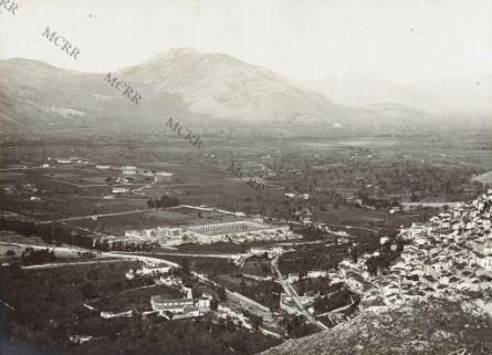 Veduta generale del Campo e del paese (Padula).