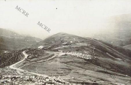 Accampamento di prigionieri per la costruzione della strada del Mandrianello.
