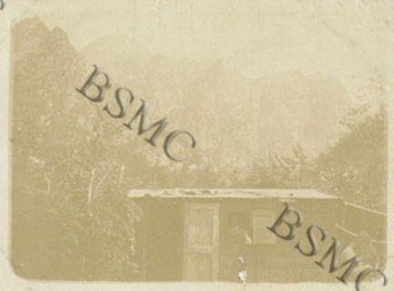 Baracca Comando della 560 Comp. Mit., Malga Busi, agosto 1917
