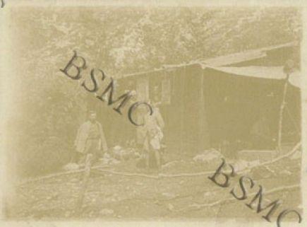 Mensa e Comando della 560 Comp. Mit. a Malga Busi, agosto 1917