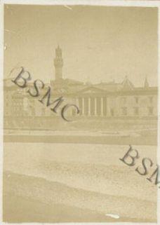 Firenze, la torre del palazzo della Signoria, agosto 1918