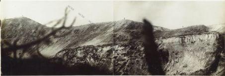 Panorama dal Rojte al Dente Austriaco. Eseguito dal Costone della Sora - q.ta 2043 - Agosto 1918