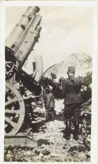 Varie di guerra (Zona: Gorizia, Carso, Monfalcone). Grossi mortai sulle Dolomiti