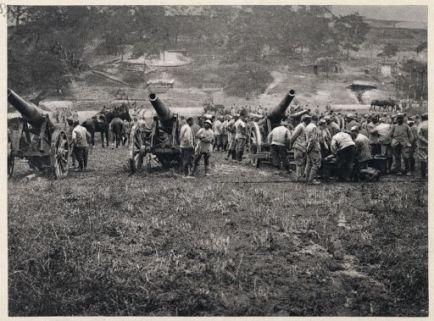 Cannons allemandes capturés dans la Somme