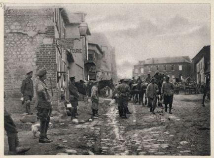 Bray-sur-Somme. Troupes anglaises dans le village