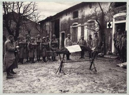 Enterrement d'un soldat