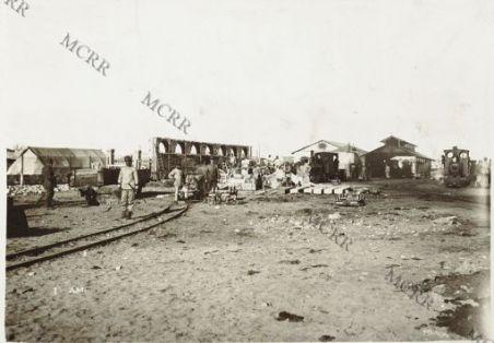 Fronte albanese. Stazione ferroviaria