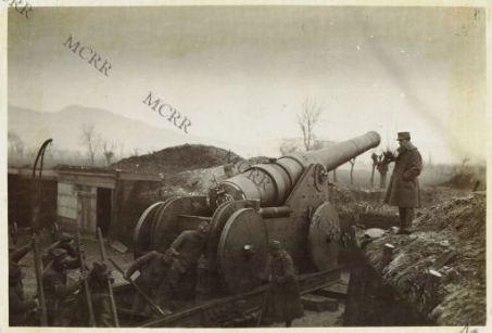 Cannone da marina da 254 mm. su carrello a ruote
