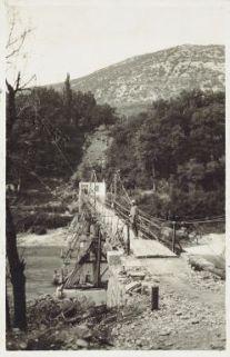 Salcano. La passerella sull'Isonzo