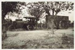 Traino di piattaforme per artiglieria