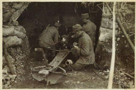 In Vallarsa - Cannone da 87 verso il Pozzacchio