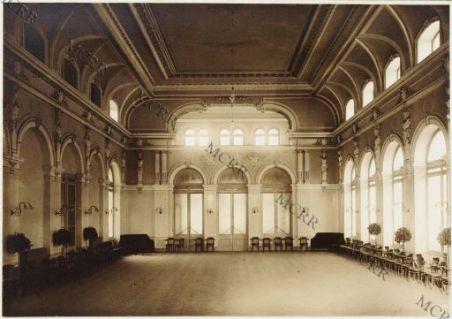 Arco, Casino di cura, interno del salone, ricostruzione