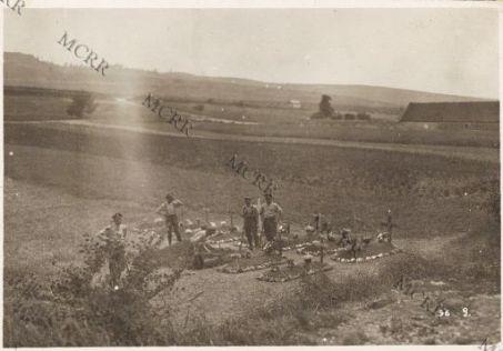 Fronte italiano in Francia. Cimitero inglese presso Epernay.