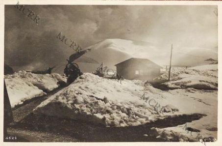 Un cannoncino antiaereo. Monti Lessini