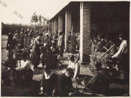 Donne adibite a lavori di trincea