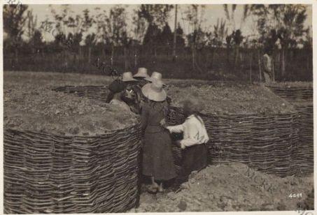 Donne adibite a costruzione di trincee