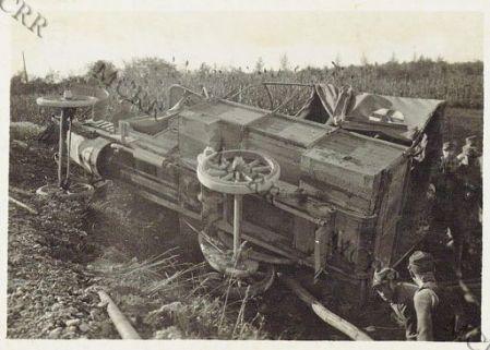 Cormons - Camion rovesciato