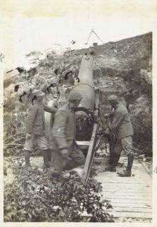 Monte Novegno - Cannone da 210 mm.