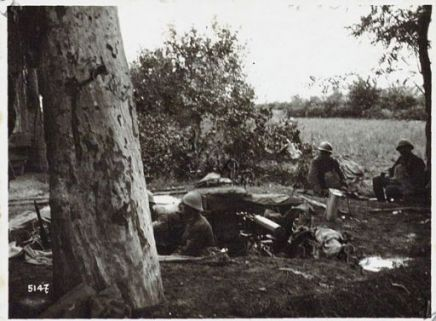 Gall. Postazione mitragliatrici a Candelù