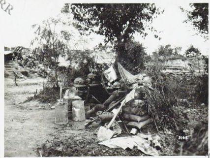 Gall. Una mitragliatrice in postazione a Candelù
