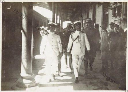 Udine - Arrivo della Missione Giapponese al Q.G. Italiano