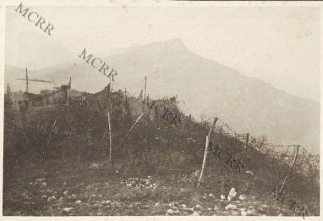 Il Cogni Zugna visto dalle nostre trincee di Castel Brentonico