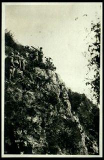 Sezione di Stoche sui dirupi dello Zugna