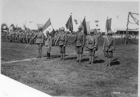Festeggiamenti alle truppe Czeco-Slovacche, Rumene e Iugo-Slave. Le Bandiere