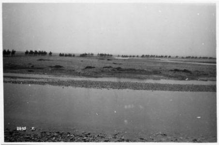 24 Ottobre 1918-4 Novembre 1918. La Battaglia di Vittorio Veneto e la disfatta dell'esercito Austro-Ungarico. Batterie a cavallo attraversano il Tagliamento