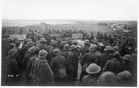 Ore 10 del 4 Nov. 1918. Generali Austriaci dopo il passaggio del Tagliamento