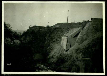 Ponte dello stradale Feltre - Belluno distrutto