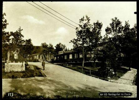 N°113 Feldspital in Osek. Fotografia dell'esercito Austro-Ungarico