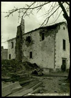 N°175 Voiscica zerschossene kirche. Fotografia dell'esercito Austro-Ungarico