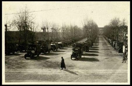 I parchi automobilistici coi mascheramenti a Piove di Sacco.