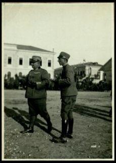 Lacenigo. 30 maggio 1918. Festa del 17° Artiglieria. Il comandante del reggimento